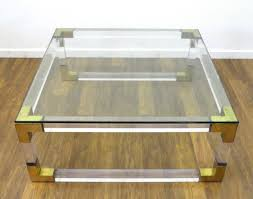 vintage square coffee table vintage french acrylic and brass square coffee table mecox gardens