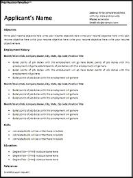 Resume Employment History Format by Employment Resume Free Resume Example And Writing Download