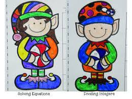 math christmas coloring pages subtract multiply divide