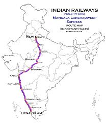 Route Map by Mangala Lakshadweep Express Wikipedia