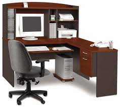 Mainstays Glass Top Desk by Furniture Mainstays L Shaped Desk With Hutch In Brown Wood For