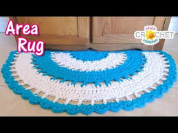 Area Rug Pattern Beautiful Half Circle Area Rug Crochet Tutorial