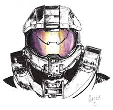 halo warthog drawing master chief halo 4 in pen by macca chief deviantart com on