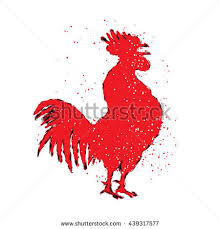 chinese 2017 new year rooster symbol stock illustration 461351389