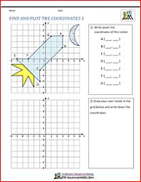 coordinate plane worksheets 4 quadrants