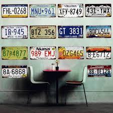 tin home decor usa arizona motorcycles car metal decorative license plate vintage