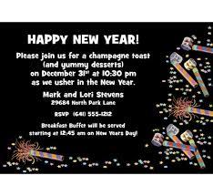 happy new year invitation noisemakers new years invitation