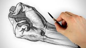 how to draw a fist hand drawing example youtube