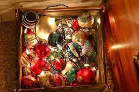 box ornaments globes lights