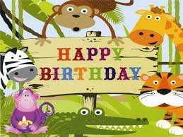 Jungle Birthday Card Card Invitation Design Ideas Cute Birthday Card For Young Ones