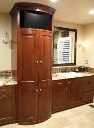 red oak wood classic blue shaker door kitchen and bathroom benevola