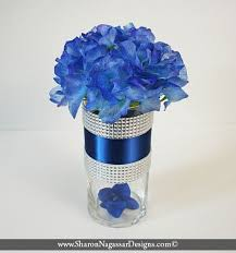 blue centerpieces two tone blue silver rhinestone by nagassar designs on