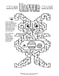 printable easter bunny maze free coloring pages kids