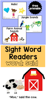 sight word readers for the word said