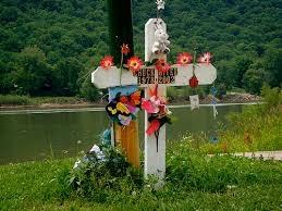 roadside memorial crosses althouse the roadside memorial at the ferry