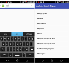 image search android android search dialog implementation with sqlite database exle