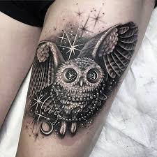 4 nice owl tattoos collection