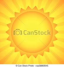 simple sun clip illustration for summer weather eps