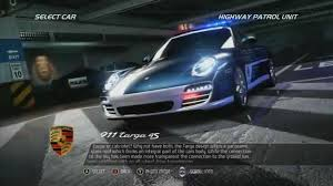 police porsche need for speed pursuit police porsche 911 targa 4s youtube