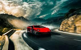 Lamborghini Aventador On Road - lamborghini on winding road full hd bakgrund and bakgrund