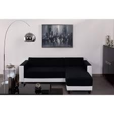 canapé d angle noir et blanc pas cher finlandek canapé d angle firr bimatière blanc noir achat vente