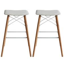 hudson bar stools hudson bar stool set of 2 white