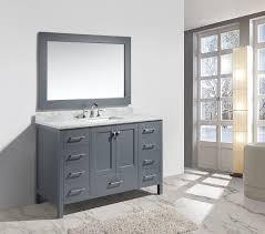 54 Bathroom Vanity 54 Single Sink Vanity Set In White Finish Design Element