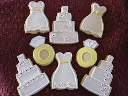 wedding shower cookies and marshmallow fondant cookies and cups