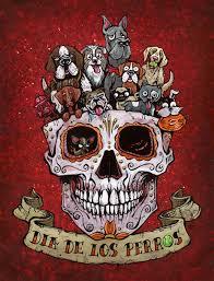 dia de los muertos sugar skulls dia de los perros by david lozeau day of the dead