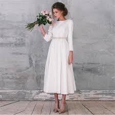 online get cheap satin ivory short wedding dress aliexpress com