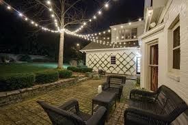 commercial outdoor string lights how to hang backyard string lights hanging outdoor string lights
