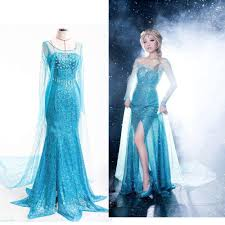 fancy maxi dresses aliexpress buy snow elsa women dress