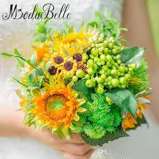 sunflower wedding bouquet sunflower wedding bouquets artificial bridesmaids holding