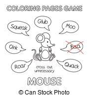 vectors cute mouse coloring book cartoon illustration