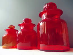 28 red glass kitchen canisters set 4 large glass kitchen