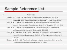 Sample Reference List For Resume by Apa Style