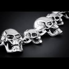 bracelet men skull images 925 sterling silver multi skull mens bracelet jpg