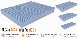 materasso in waterfoam materasso h 18 cm in poliuretano o waterfoam ortopedico antiacaro