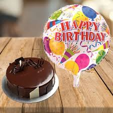 balloon and cake delivery send cake with happy birthday balloon online by giftjaipur in
