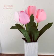 Diy Paper Home Decor by Online Get Cheap Paper Flower Tulip Aliexpress Com Alibaba Group