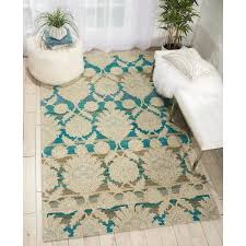 Teal Area Rug 5x8 Nourison India House Ivory Teal Wool Area Rug 5 X 8 Free