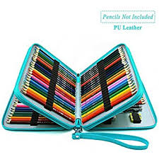 prismacolor watercolor pencils youshares 120 slots pencil pu leather handy