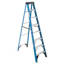 ladder shop werner fiberglass type 1 250 lbs step ladder at lowes com