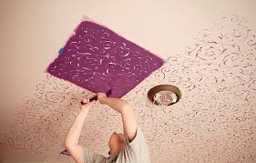striking ceiling designs the delicate of ceiling stencils