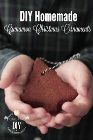 diy cinnamon ornaments live simply