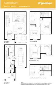Canterbury Floor Plan by Kingmeadow Canterbury Townhome Oshawa New Homes Minto