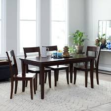 espresso colored dining room tables table bench color finish