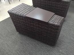 lloyd flanders contempo wicker storage wedge table with hinged top