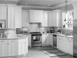 White Kitchen Cabinets Design by Kitchen Cabinets Modern Oven And Stove With Natural Brown