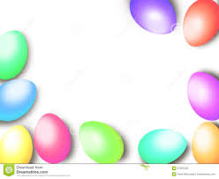 pastel color easter eggs border frame background template stock